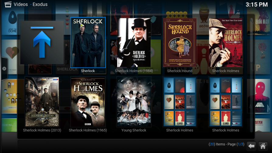 how to watch sherlock on kodi live online