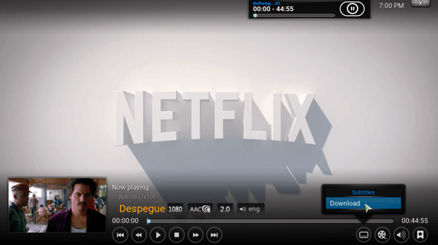 Netflix subtitles on kodi