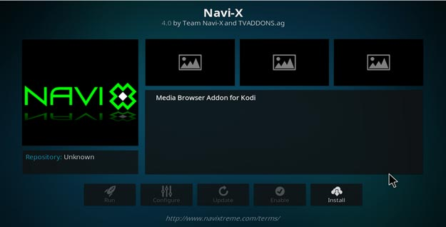 navi-x addon setup on kodi krypton version 17