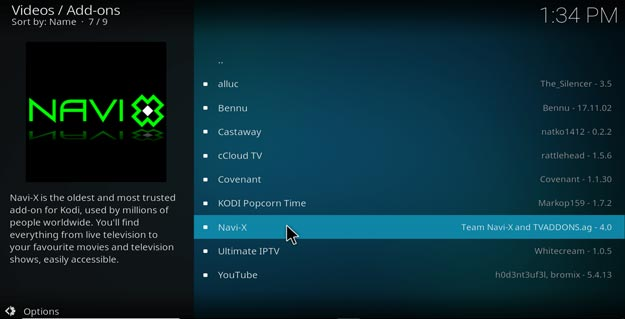 navi-x addon setting kodi krypton version 17