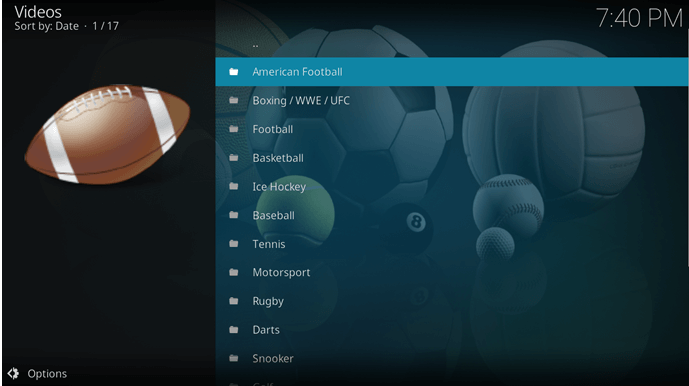 best sportsdevil kodi channels lists