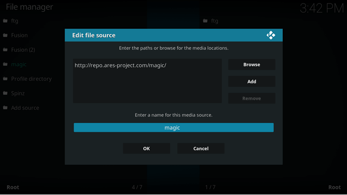 fire tv kodi ares project