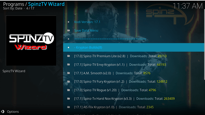 spinz tv wizard build