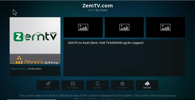 add zem to kodi