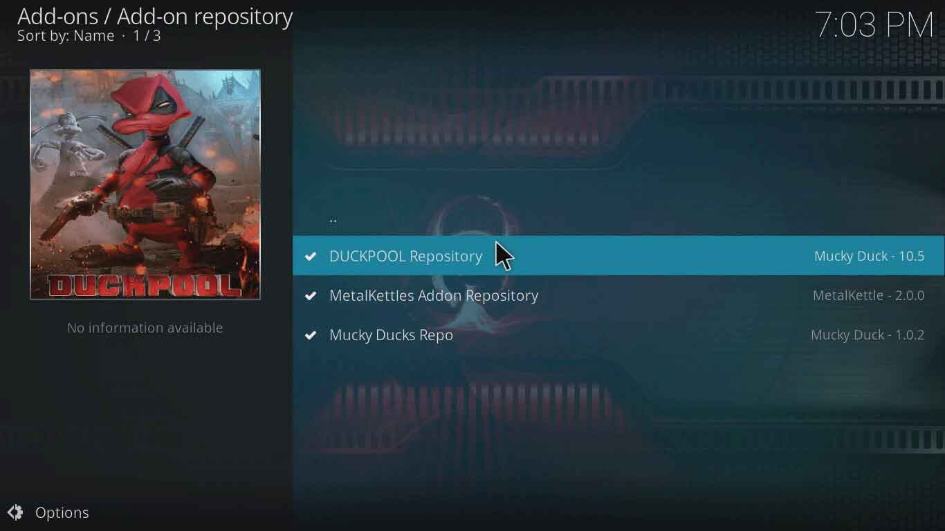 istream duckpool kodi settings