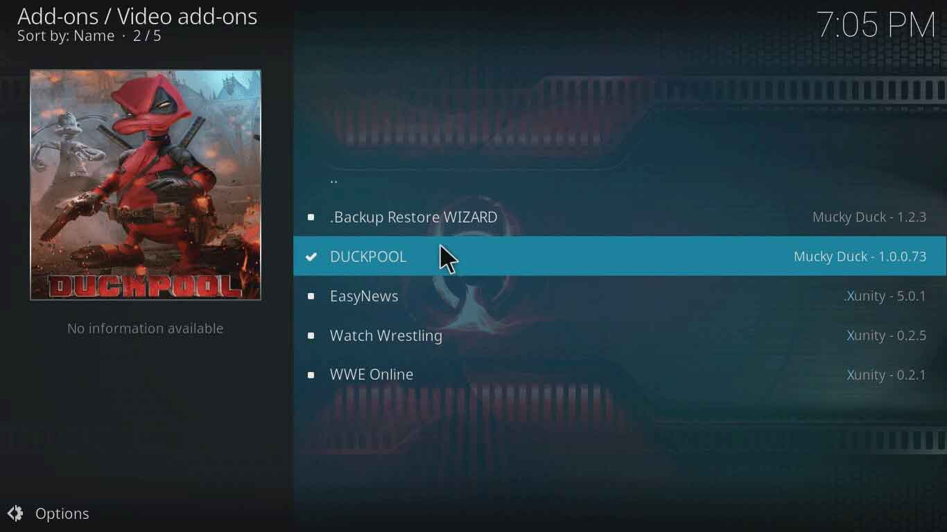 istream duckpool on kodi xbmc