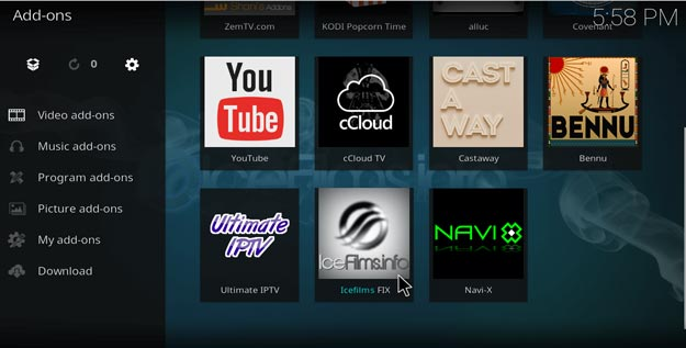 how to add icefilms on kodi