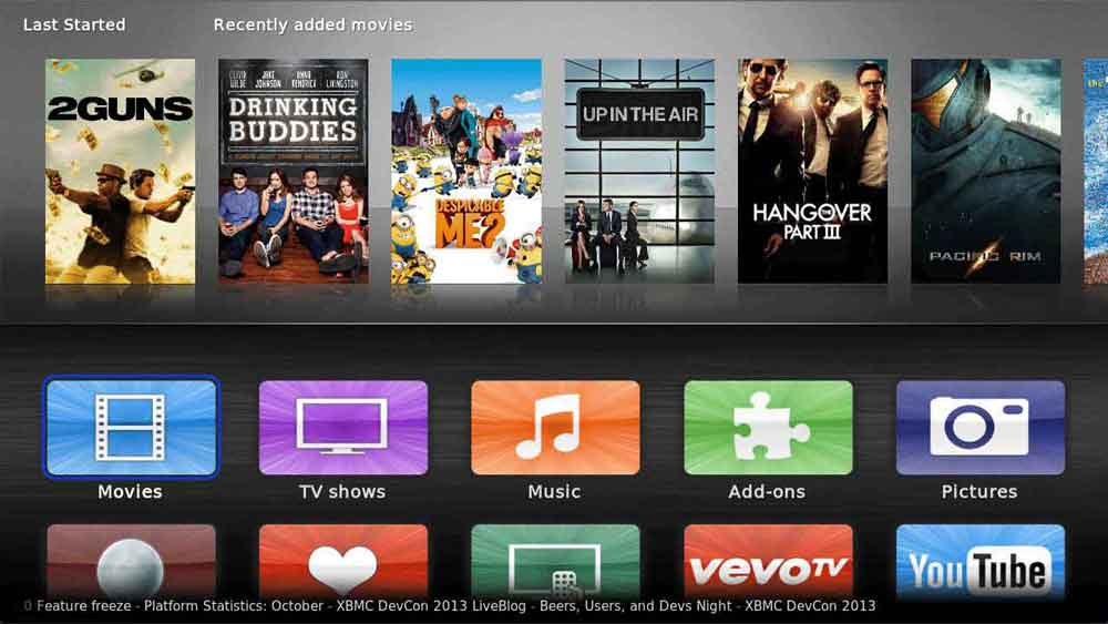 Sio2 is best kodi skin for ios/mac devices