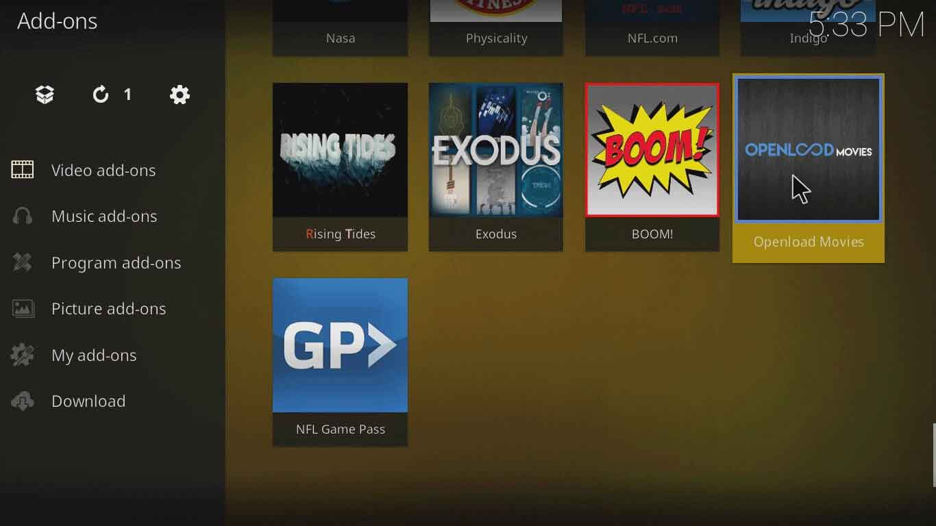 how to install openload on kodi jarvis version 16 or below