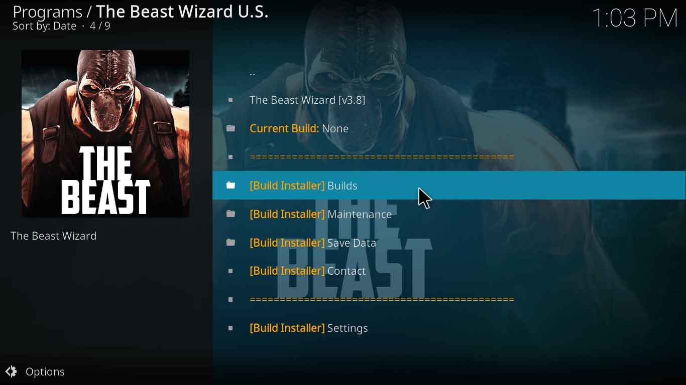 the beast kodi settings