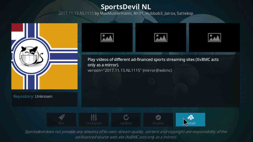 how to install sportsdevil on kodi firestick using bookmark lite repository