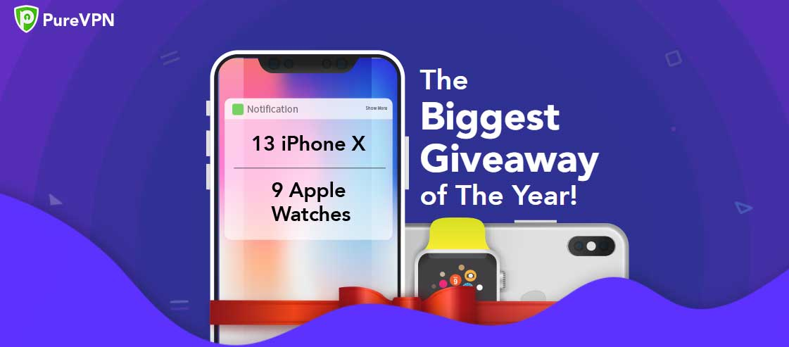 win an iphone-x and apple watch with purevpn