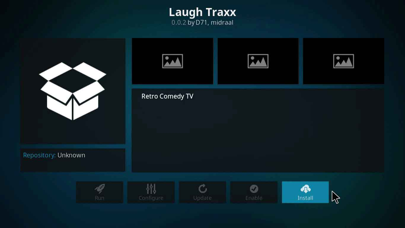 laugh traxx kodi not working