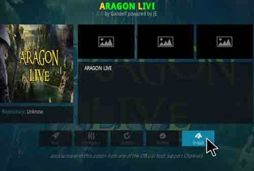 Aragon Live TV kodi repository
