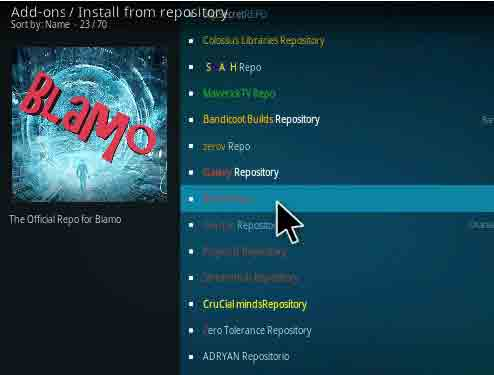 Aragon Live TV blamo repository