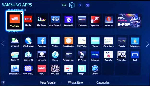 Features of a Samsung Smart TV For Kodi Users