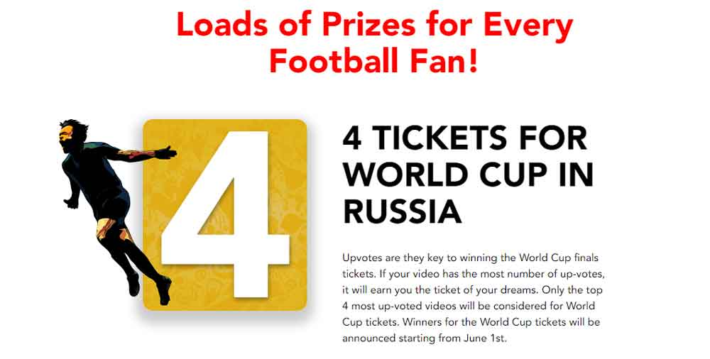 4 tickets for world cup in russia