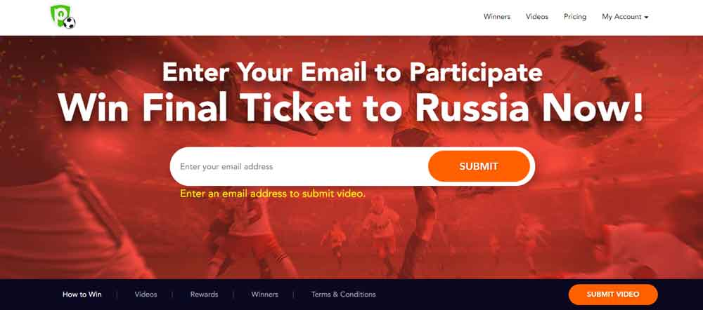 Purevpn free tickets for world cup