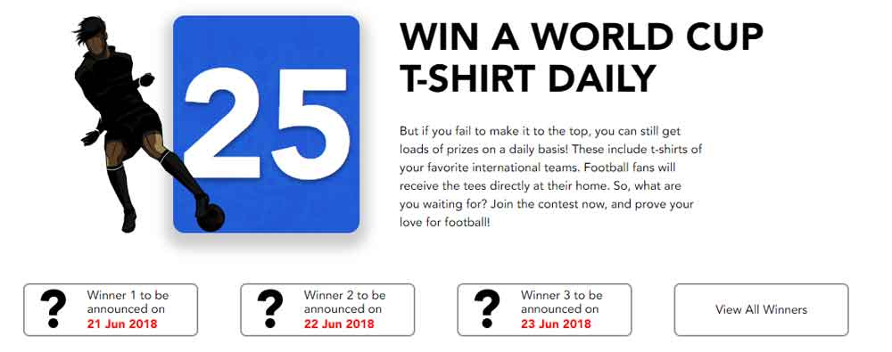 Purevpn world cup T shirt give away