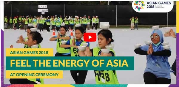 opening ceremony asian games streaming