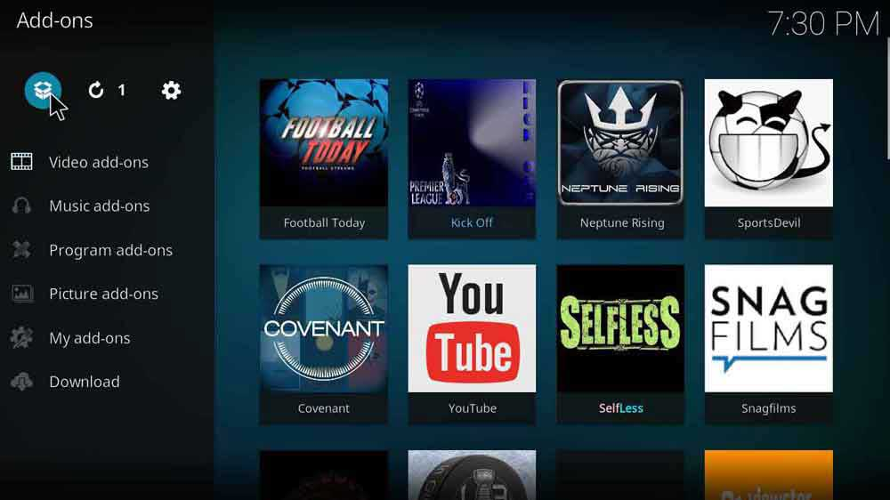 how to setup haystack on kodi krypton 17.6