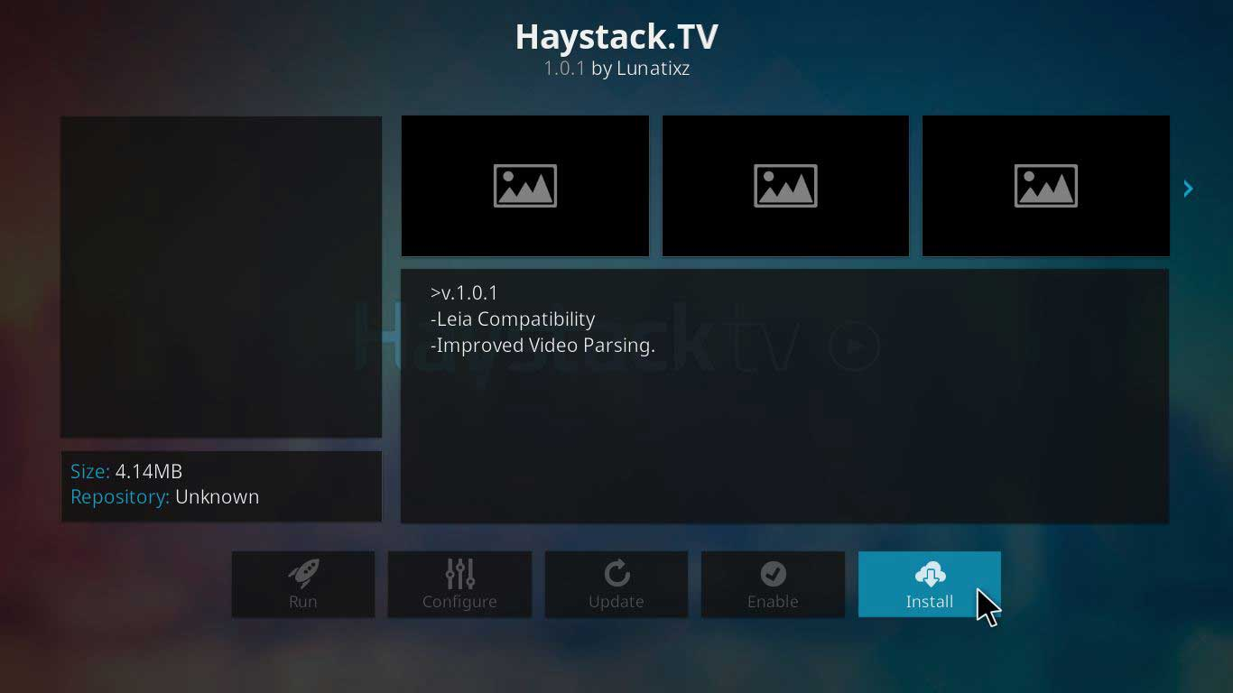 haystack.tv on kodi jarvis