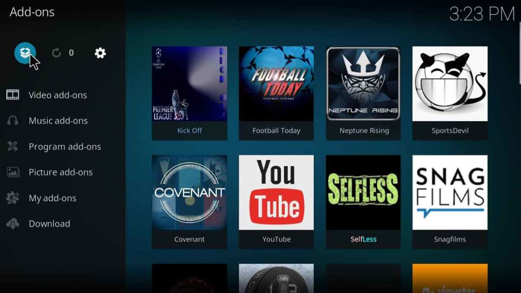 how to setup yoda kodi addon