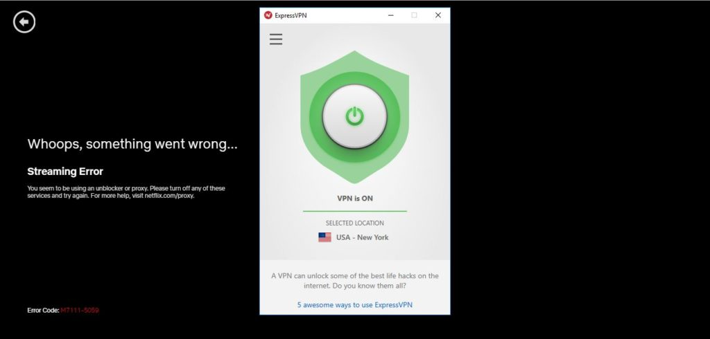 ExpressVPN newyork server for netflix