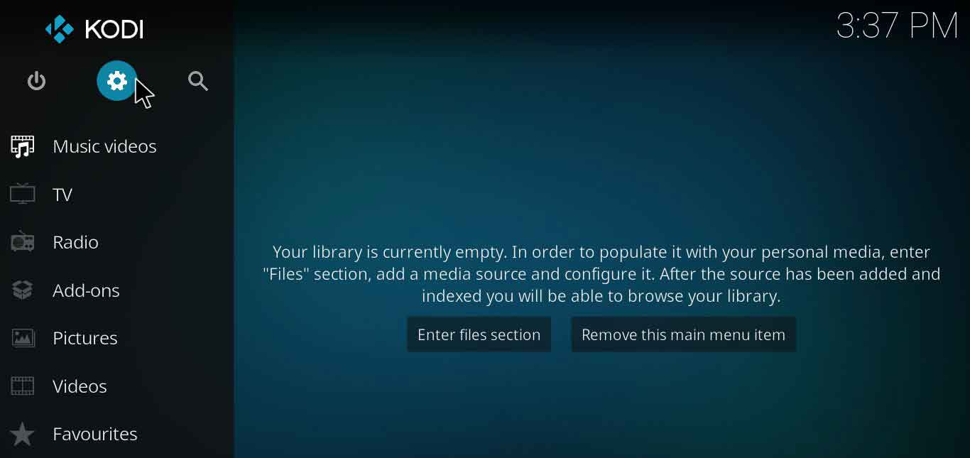 how to setup kodi profile