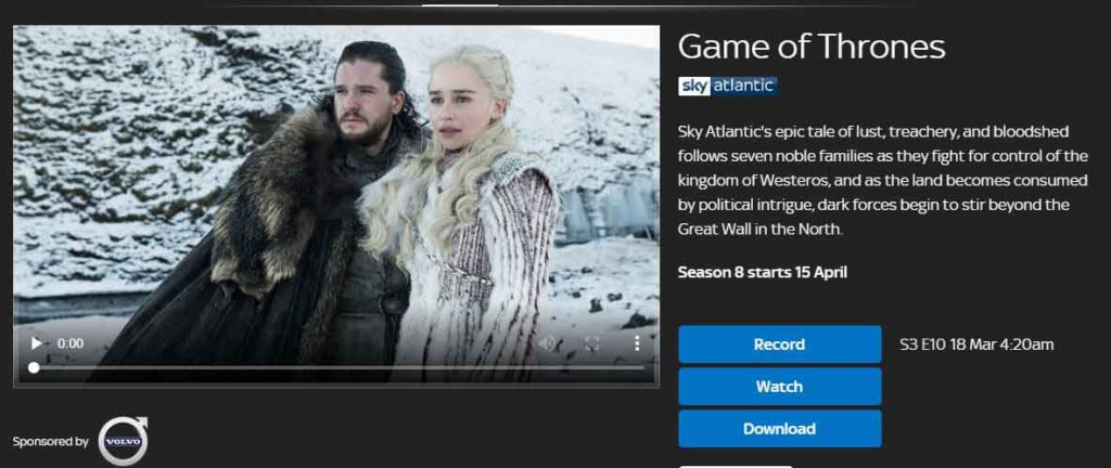 How to Stream Season 8 Game of Thrones in the UK