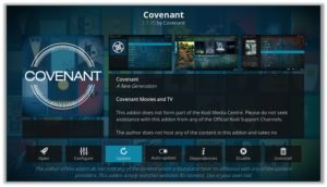 Covenant Kodi Update