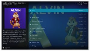 Alvin Video add-ons