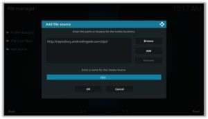 Android TV Geek Add File Source