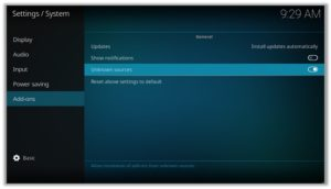 Enable Unknown Sources Kodi