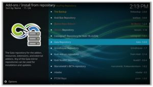 GAIA Repository Install From Zip File