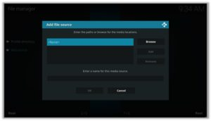 Select File Option Kodi