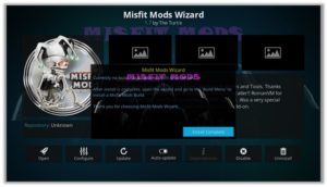 Misfit Mods wizard Install Complete Option