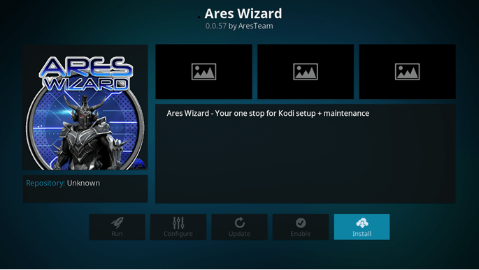 ares wizard on kodi fire tv