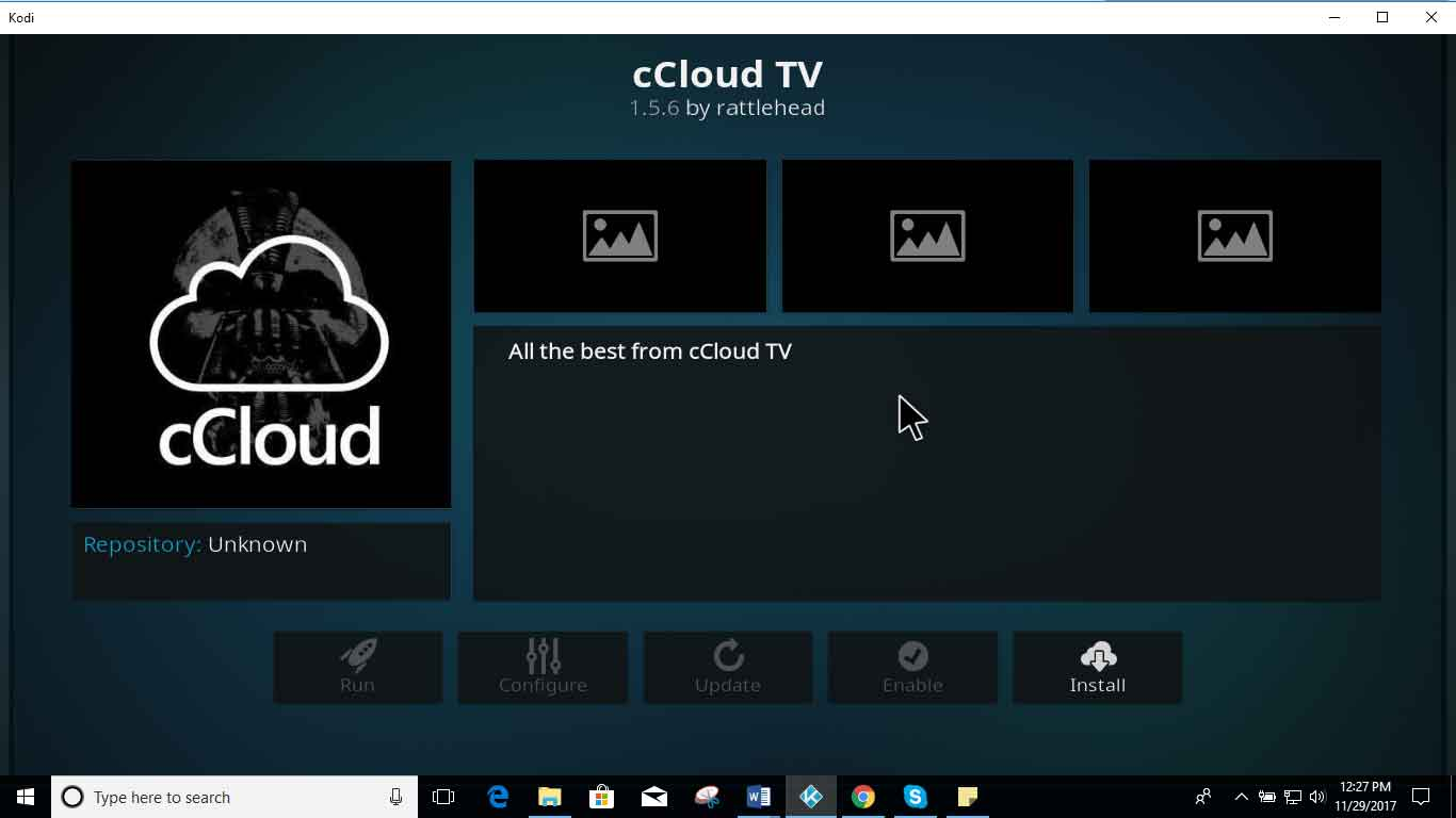 How to Install cCloud on Kodi Krypton 17 And Jarvis 16
